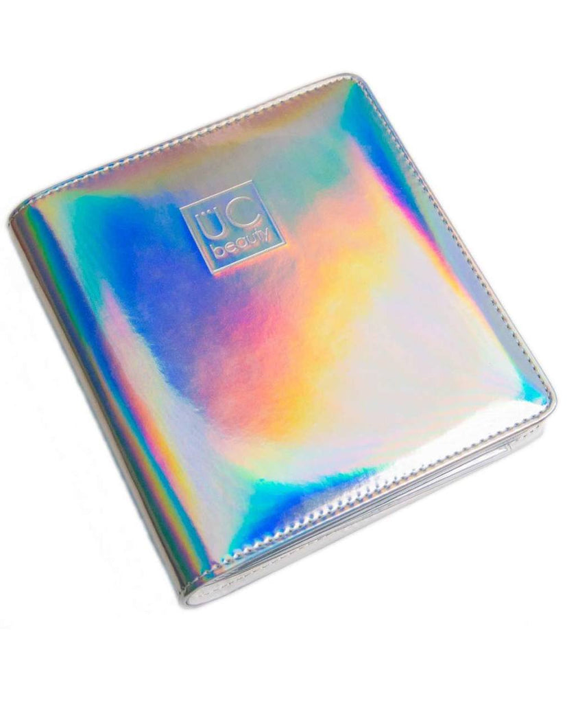 Holographic Nail Stamp Storage Binder - Silver