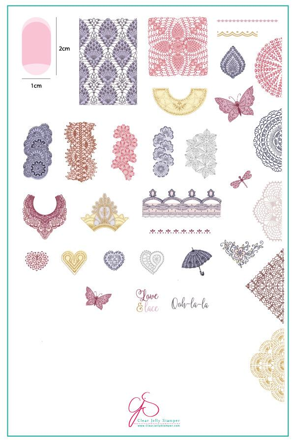 Frill Seeker (CjS V-13) - Clear Jelly Stamping Plate