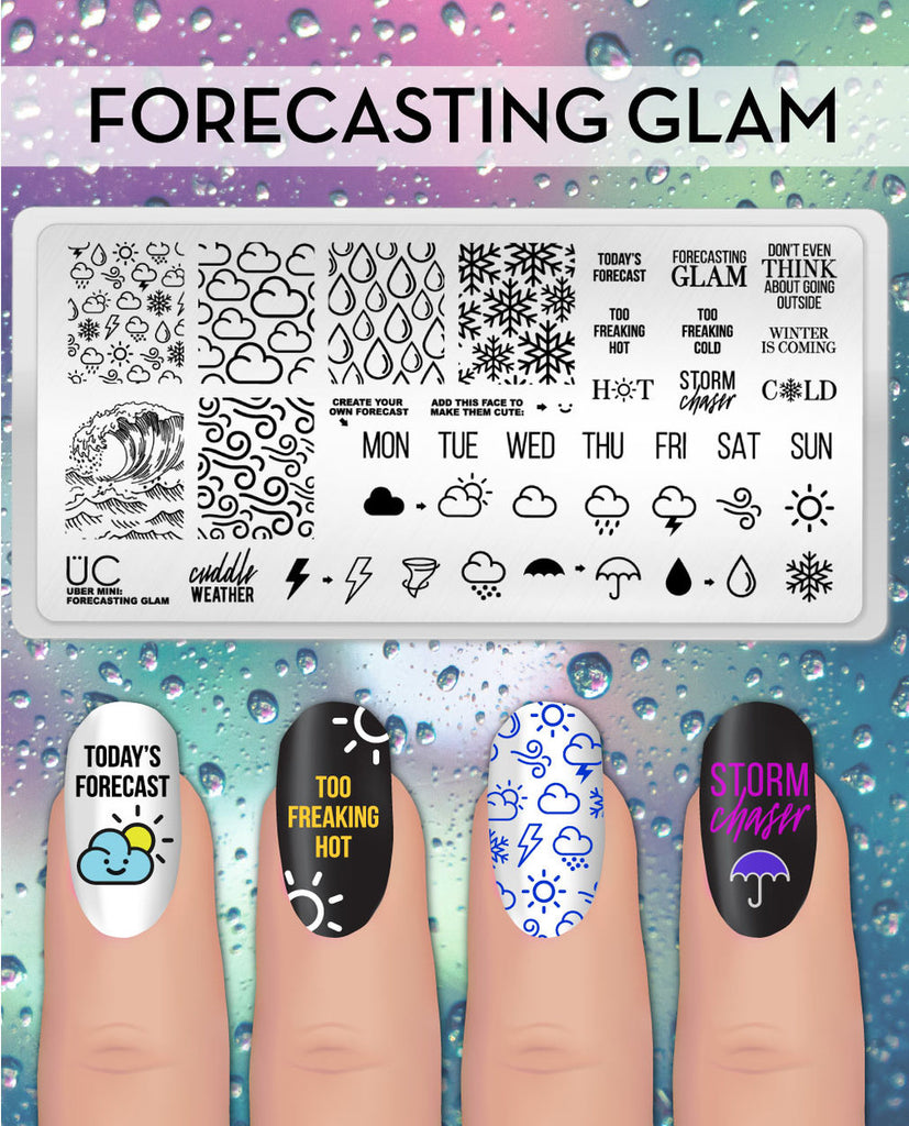 Forecasting Glam - Uber Chic Mini Plate