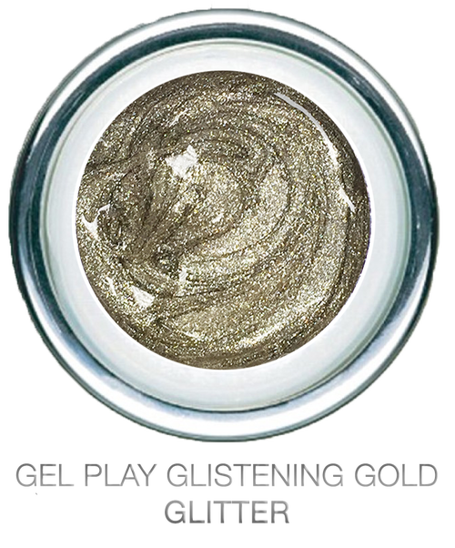 Glitter Glistening Gold Metallic - Akzentz Gel Play UV/LED