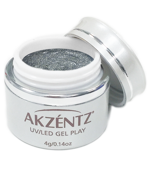 Glitter Silver - Akzentz Gel Play UV/LED