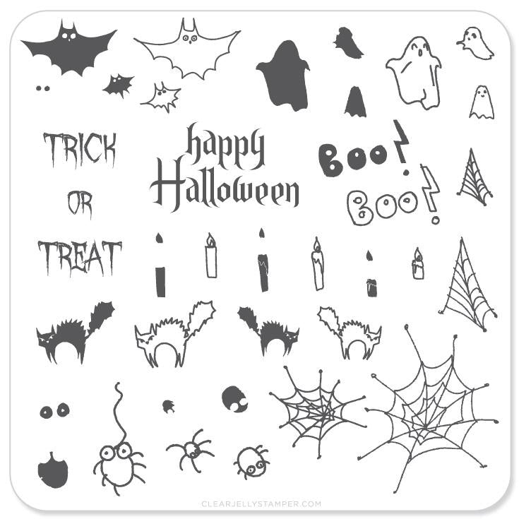 Halloween - Trick OR Treat (CjSH-04) - Clear Jelly Stamping Plate