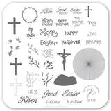 He is Risen (CjS H-32) - CJS Small Stamping Plate