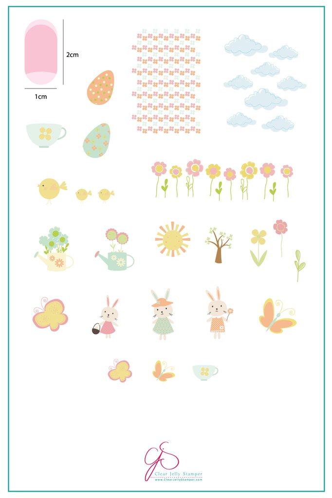 Hop Into Spring (CjSH-16) - Clear Jelly Stamping Plate