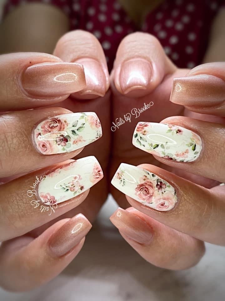 Roses and full on FLORAL Clear Foil Set