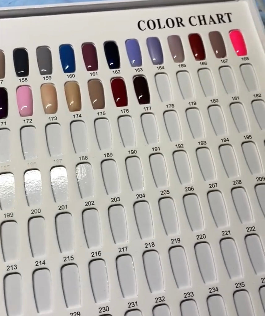 216 Tip Display Book for Showing Colors and Nail Art