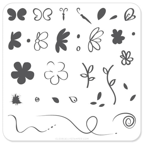 Infinite Flower - CJS Small Stamping Plate