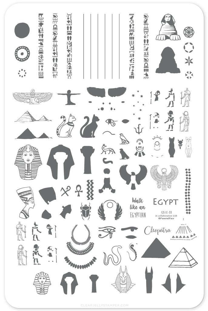 Jewels of Egypt (CjS LC-33) - Clear Jelly Stamping Plate