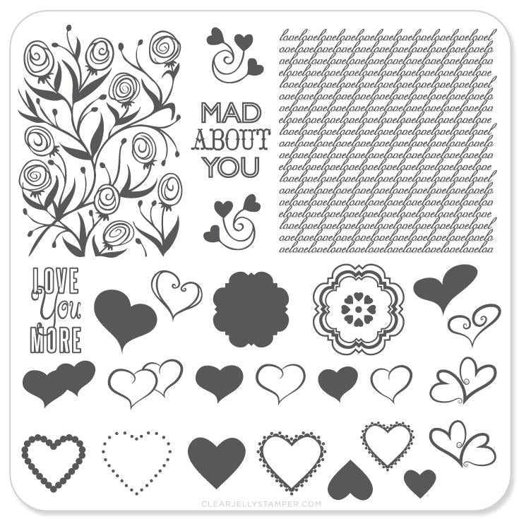 Layers of LoVe (CjS V-04) - CJS Small Stamping Plate