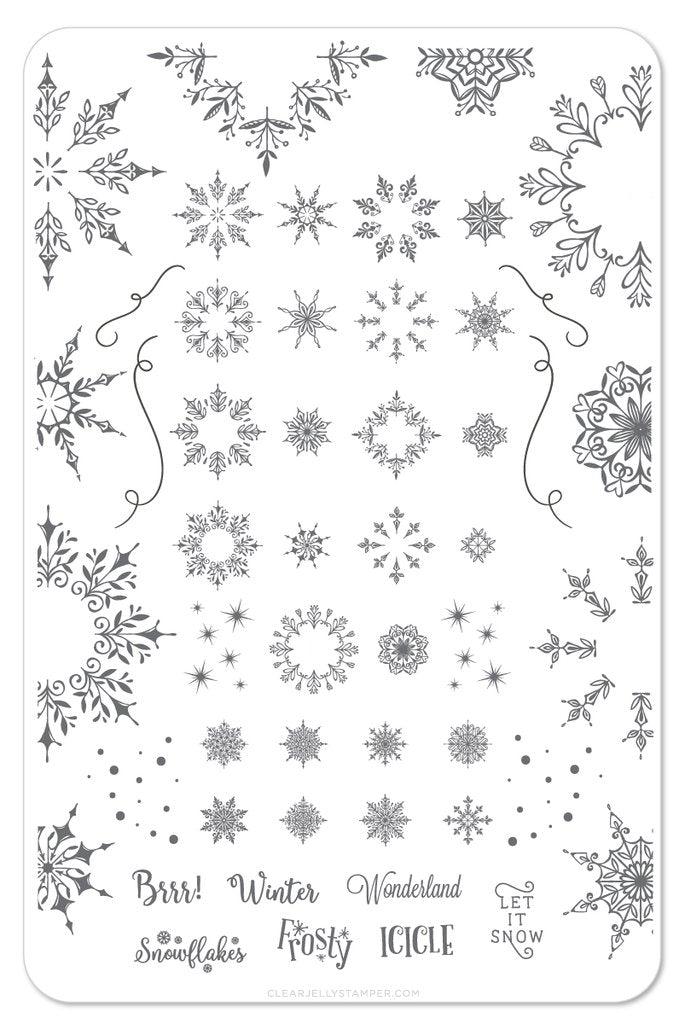 Let it Snow (CjSC-18) - Clear Jelly Stamping Plate