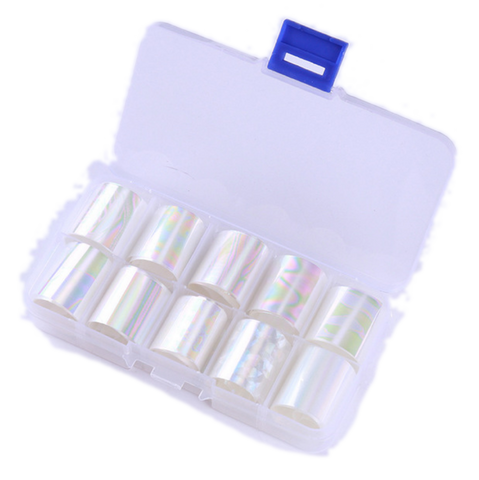 Light Irridescent Oil Slick Foil Set of 10 in Case
