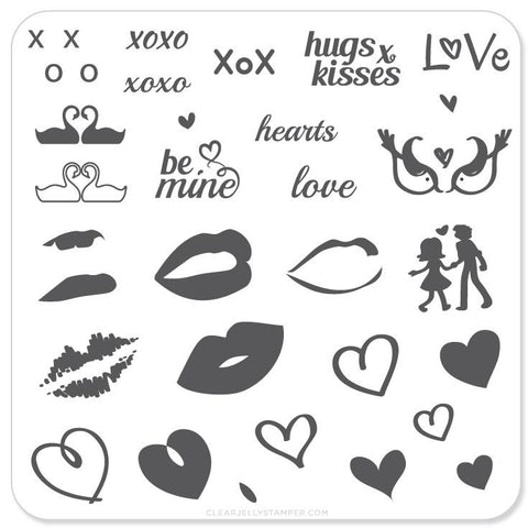 Luscious Lips and Love - CJS Small Stamping Plate