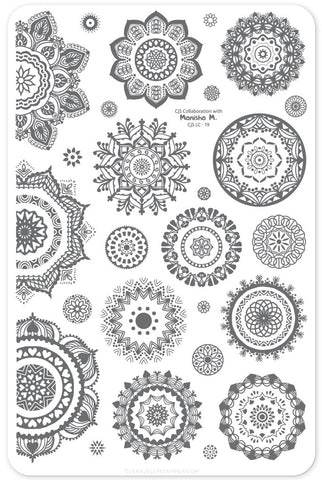 Manishas Mandalas - Clear Jelly Stamping Plate