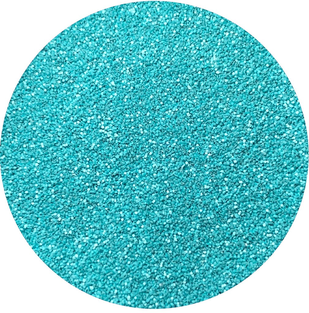 Brite Teal Matte Patent  Leather Glitter