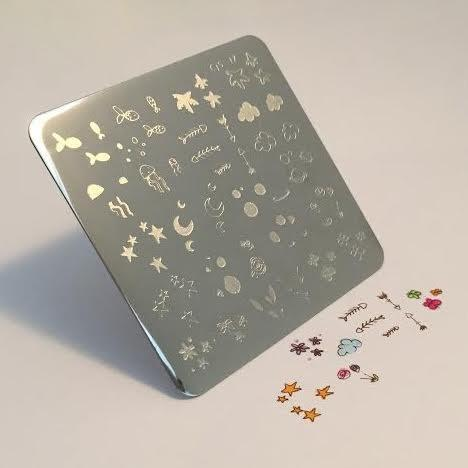 MINI Sea and Stars Doodle (CjS-17) - CJS Small Stamping Plate