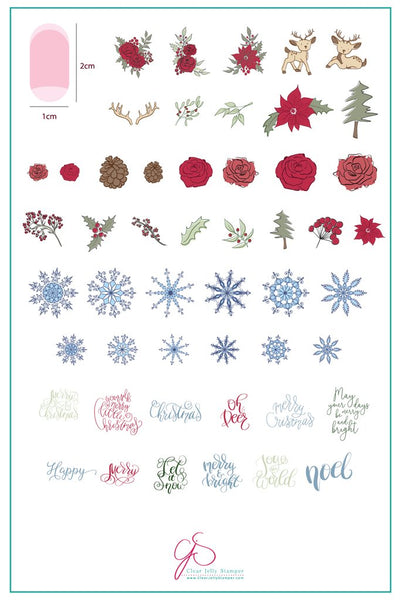 Merry Christmas My Deer (CjS C-19) - Clear Jelly Stamping Plate