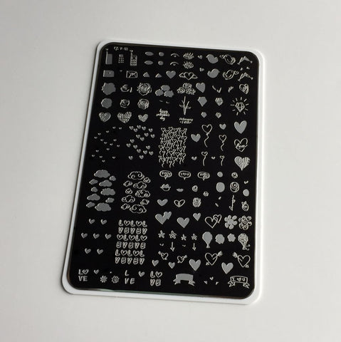 Never Ending LoVe  (CjS V-03)  - Clear Jelly Stamping Plate