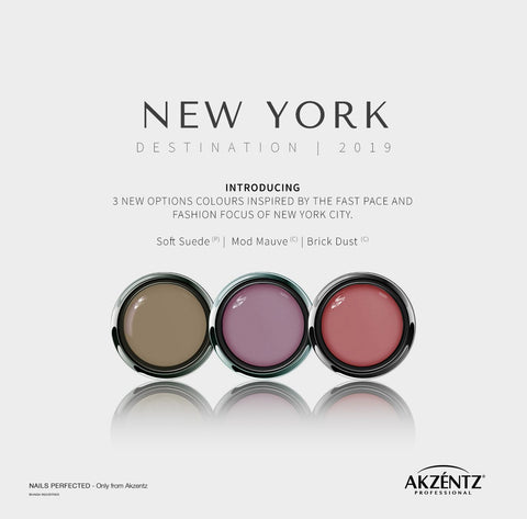 New York FULL SIZE Collection - Akzentz Options UV/LED