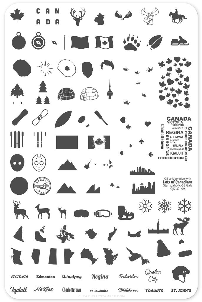 Oh Canada (CjSLC-09) - Clear Jelly Stamping Plate