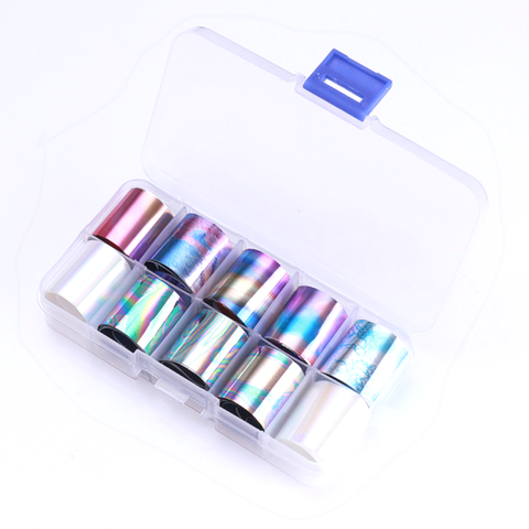 Oil Slick Foil Set of 10 in Case