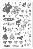Ornamental Flourish (CjS-45) - Clear Jelly Stamping Plate