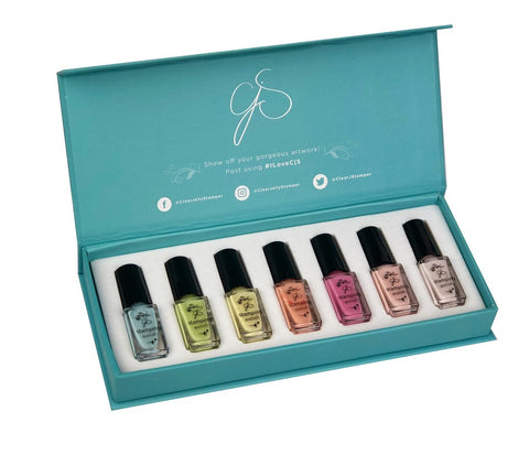 Stamping Polish Kit - Pastel (7 Colors)