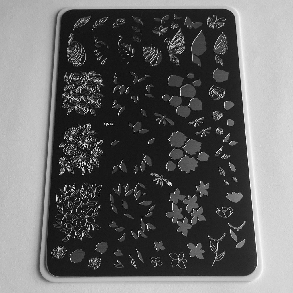 Peacocks Garden (CjS-37) - Clear Jelly Stamping Plate