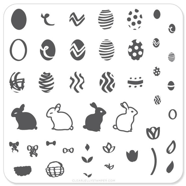 Peter Cottontails Easter Eggs  (CjSH-02) - CJS Small Stamping Plate