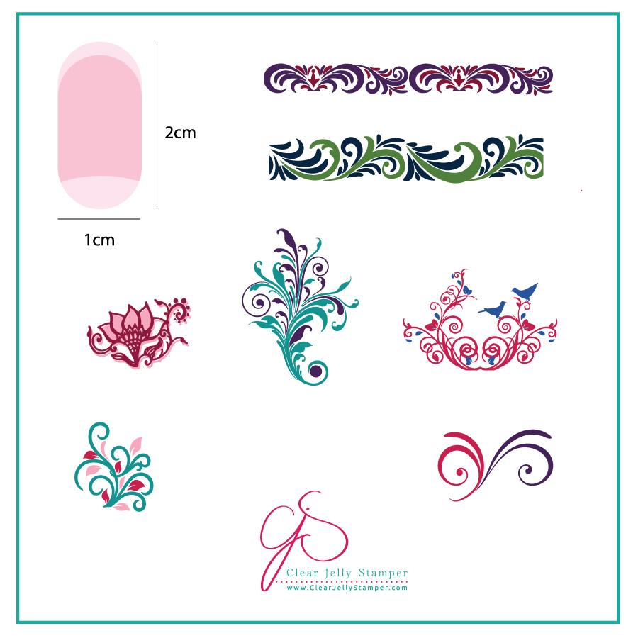 Petit Swirls (CjS-49) - CJS Small Stamping Plate