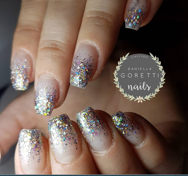 Pewter Aurora Glitter Gel - Akzentz Options UV/LED