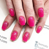 Pink Aurora Glitter Gel - Options UV/LED