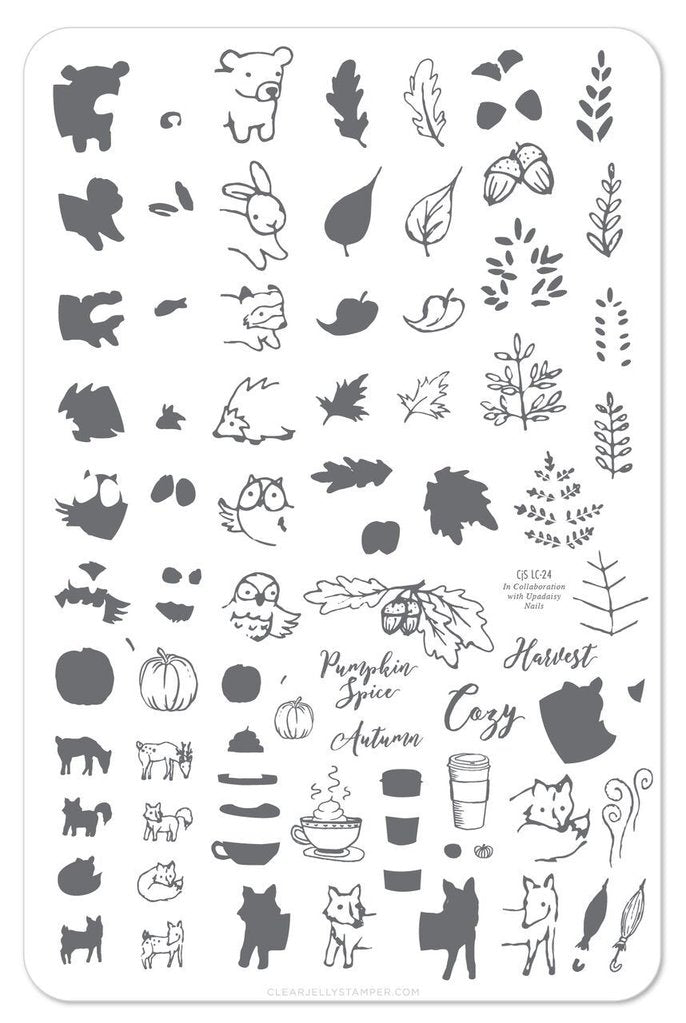 Pumpkin Spice (CJS LC-25) - Clear Jelly Stamping Plate