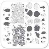 Suzie's Underwater Tropical (CjS LC-49) - CJS Small Stamping Plate