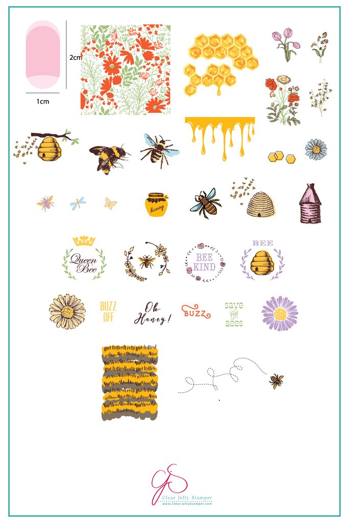 Save the Bees! (CjS-68) - Clear Jelly Stamping Plate