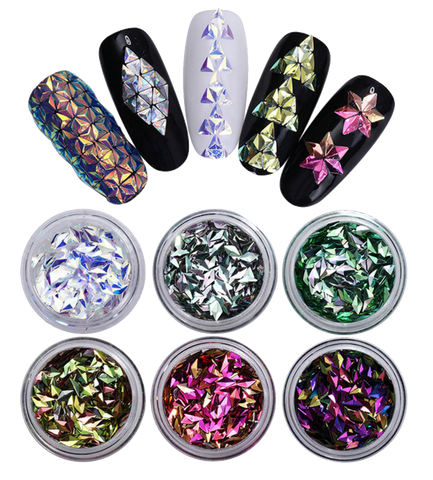 Rhombus Holographic Glitter Set of 6