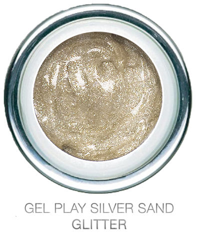 Glitter Silversand - Akzentz Gel Play UV/LED