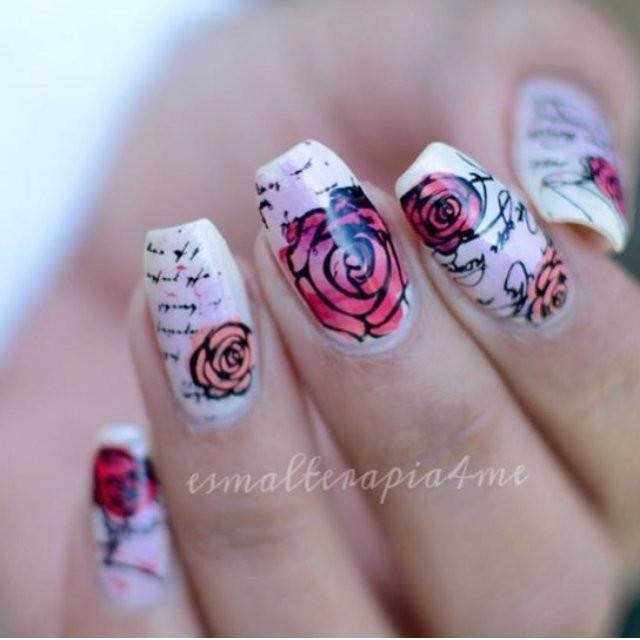 Simple Rose and Script - CJS Small Stamping Plate