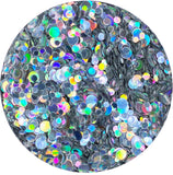 Silver Baubles Holographic Confetti Glitter - 2 Sizes