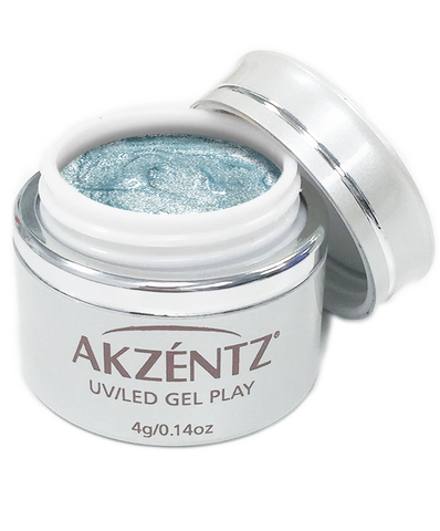 Glitter Snow Blue - Akzentz Gel Play UV/LED