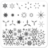Snowflakes - CJS Small Stamping Plate