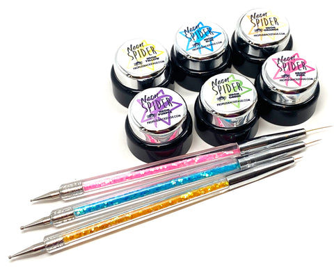 NEON Metallic Spider Gel KIt