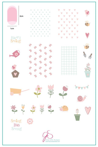 Spring Has Sprung (CjSH-17) - Clear Jelly Stamping Plate