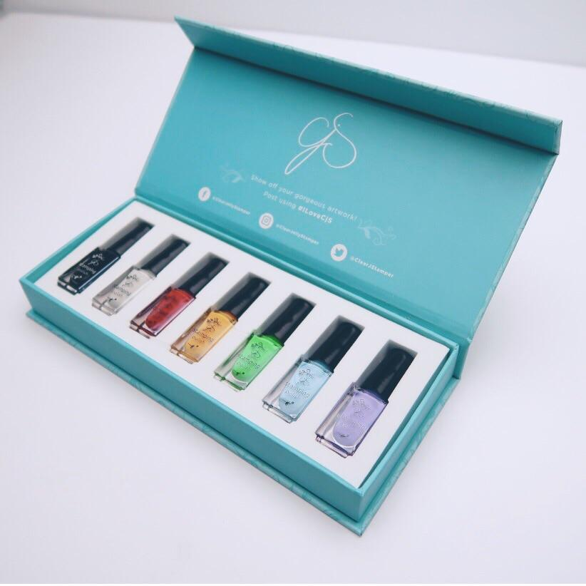Starter Stamping Polish Kit (7 Colors)
