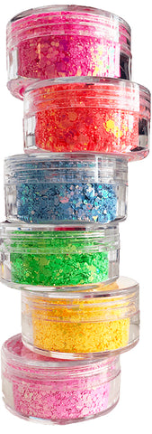 Summer Treats 6pc Glitter Set