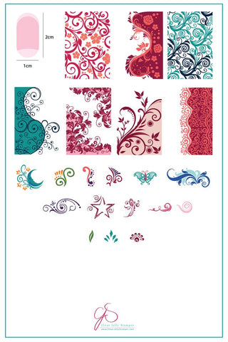 Sweet Swirls (CjS-48)  - Clear Jelly Stamping Plate