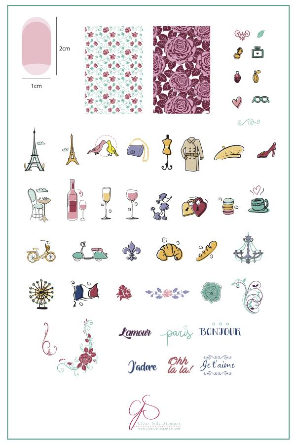 A Taste of France (CJS-47) -  Clear Jelly Stamping Plate