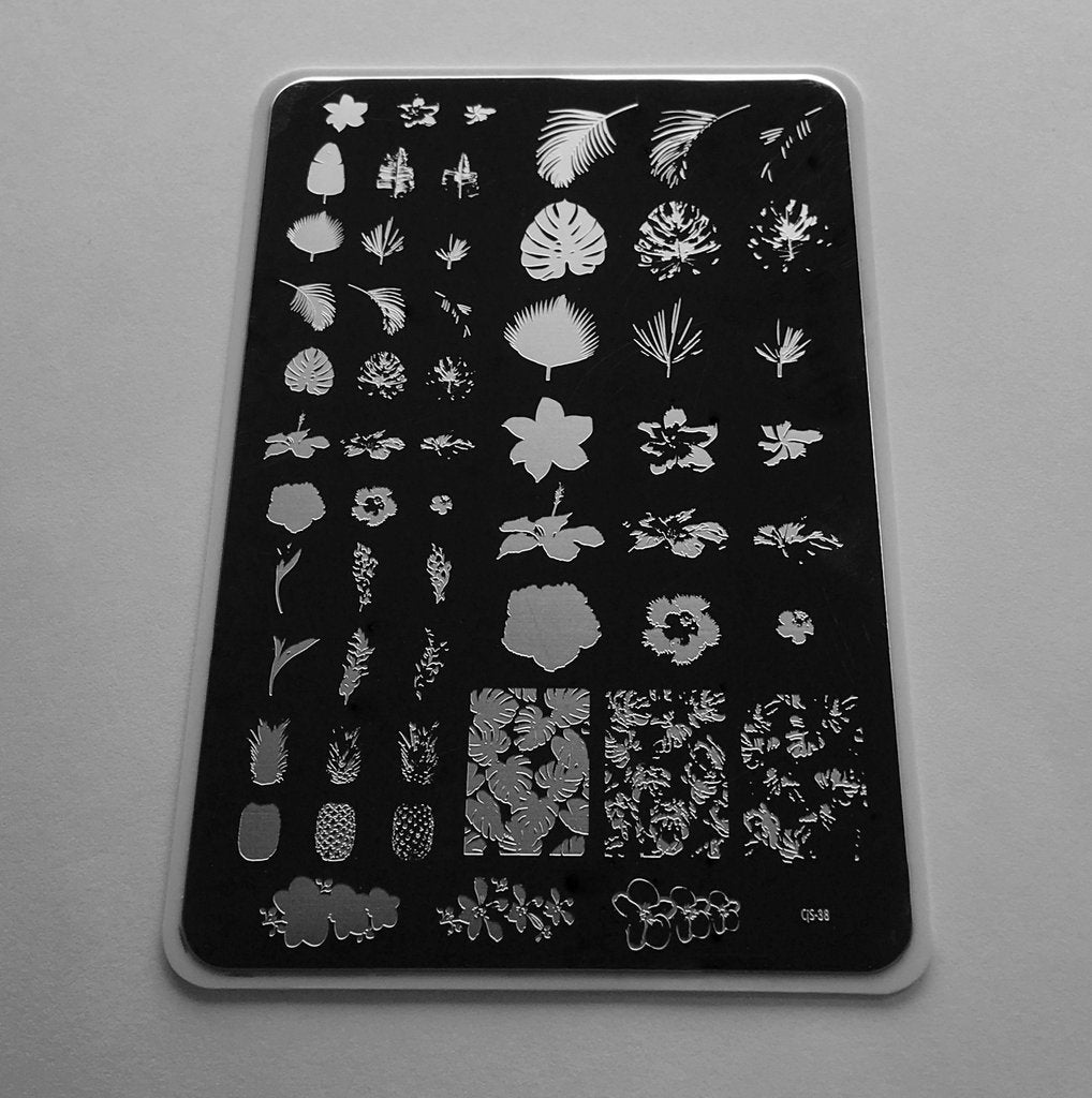 Tropical (CjS-38) - Clear Jelly Stamping Plate