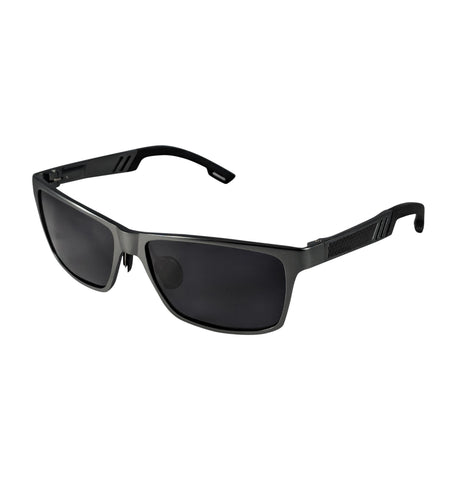 Aluminum polarized sunglasses black lense