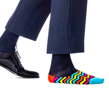 Fun Hidden Pattern Socks for Men - Agent Zigzag