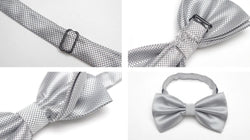 Pre-tied Black Cross-hatch Bow Tie